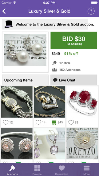 Tophatter - Live Auctions Shopping App: Buy and Sell Fashion Clothes Shoes Jewelry