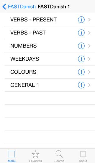 FASTDanish iPhone Screenshot 2