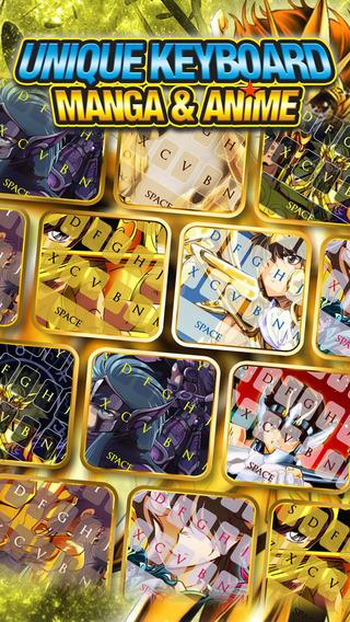 KeyCCM – Manga Anime : Custom Color Wallpaper Keyboard Themes For Saint Seiya Style