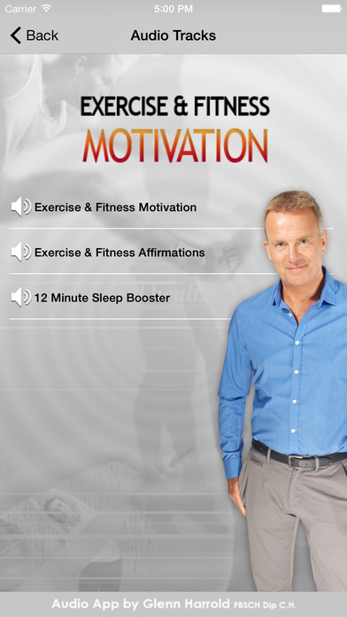 Exercise & Fitness Hypnosis Motivation by Glenn Harrold iPhone Screenshot 2