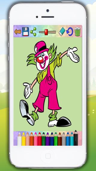 Gran circo y payasos - dibujos para pintar y libro para colorear - Premium