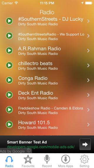 Dirty South Music Radio Recorder
