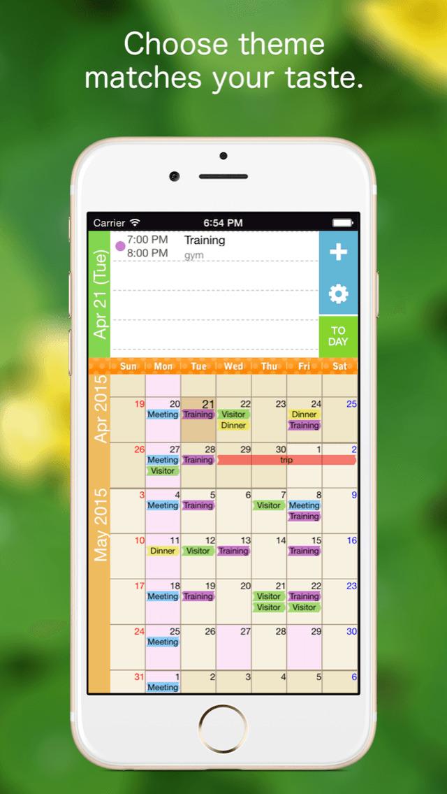 Monthly Calendar App : Kurumaki calendar month scroll ios