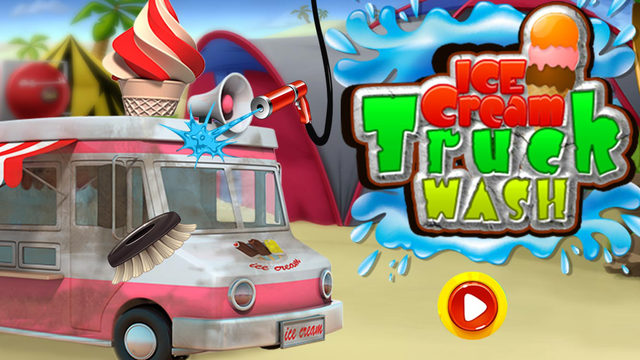 Ice Cream Truck Wash - Washing cleaning dirty car cleanup game
