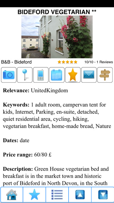 Bed and Breakfasts, B&B's and holiday rentals iPhone Screenshot 3