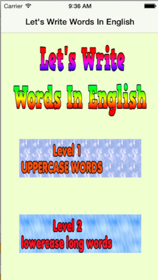 Words In English