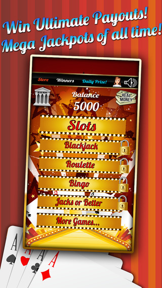 Rich Slots Mania with Blackjack Blitz Big Roulette Wheel and More