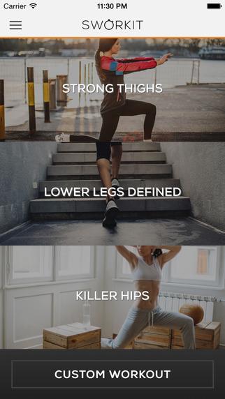 Lower Body Sworkit - Thigh Hip Leg lower body workouts
