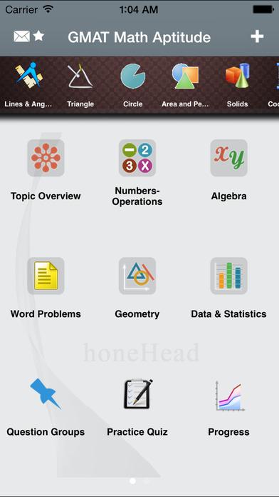 GMAT Math Aptitude iPhone Screenshot 1
