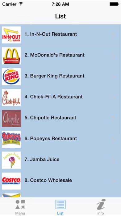 mySecretMenu - Fast food hidden menus iPhone Screenshot 3