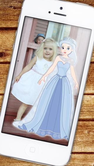 Photo with princesses-stickers - Premium