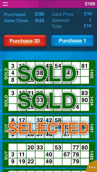 Live Bingo iPhone Screenshot 2
