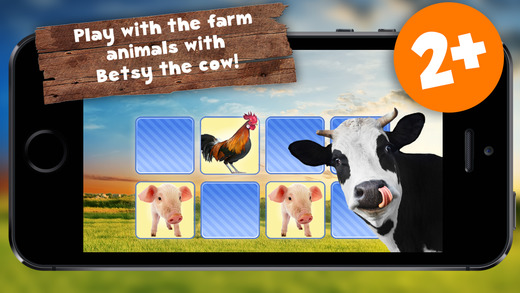 Free Memo Game Farm Animals Photo