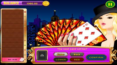 Screenshot 3 Все в джевел Win Лаки Джекпот High-Low (угадать следующую карту) Казино тире Игры Pro