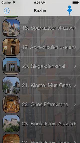 Bozen Giracittà - Audioführer iPhone Screenshot 2