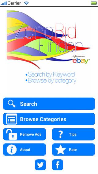 Zero Bid Finder for eBay FREE