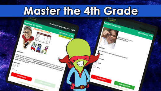 4th Grade Galaxy: Math ELA and Reading - Common Core STAAR or Your State Standards