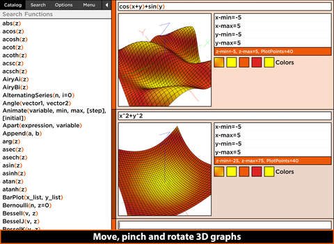 MathStudio Express - Symbolic graphing calculator for algebra, calculus and statistics Screenshot