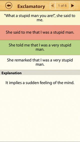 Grammar Express: Reported Speech iPhone Screenshot 4