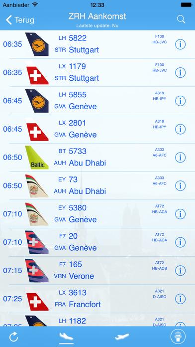 iPlane - Zurich Airport iPhone Screenshot 1