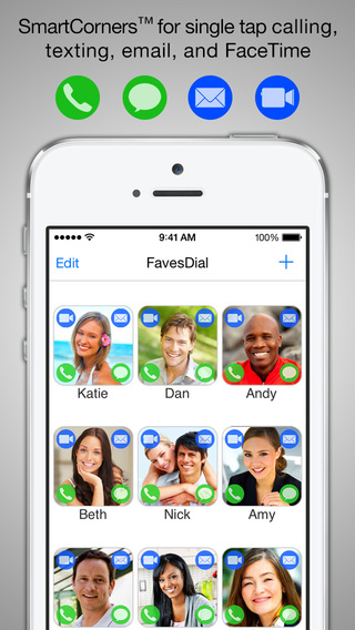 FavesDial - Single tap speed dialer