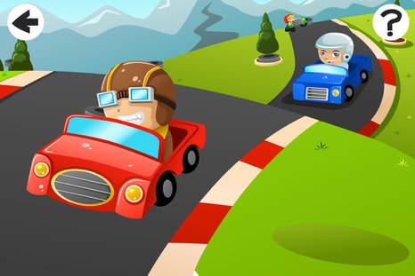 abc 游戏中的汽车和汽车幼儿学习的幼儿园和 幼儿园