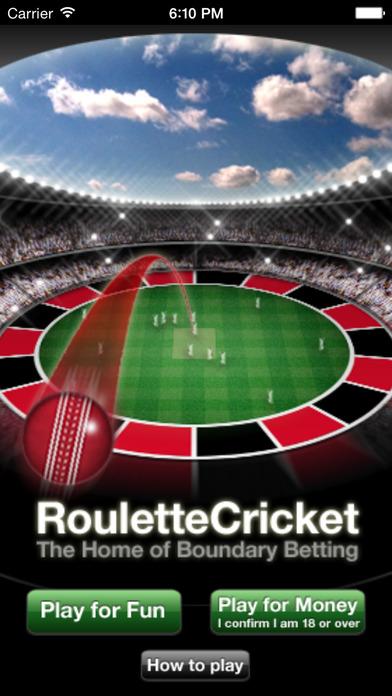 RouletteCricket iPhone Screenshot 1