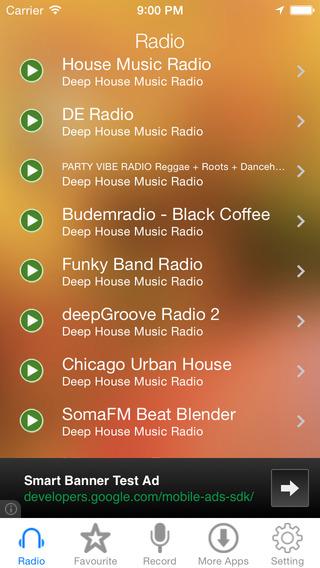 Deep House Music Radio Recorder
