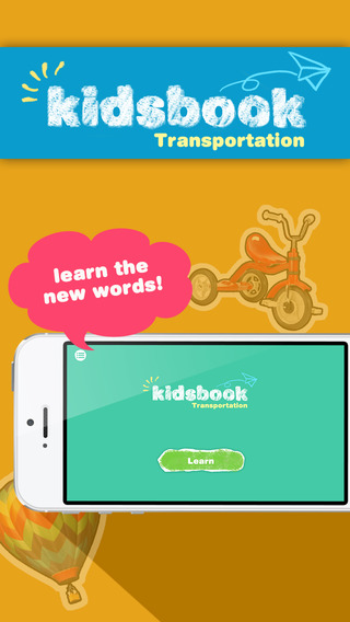 KidsBook: Transportations - HD Flash Card Game Design for Kids
