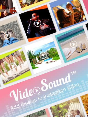 Video Sound for Instagram - Free Add Background Music to Video Clips and Share to Instagram Facebook