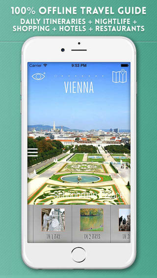 Vienna Travel Guide with Offline City Street and M