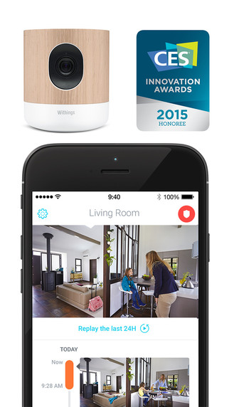 Withings Home All-in-one security camera with air quality sensors