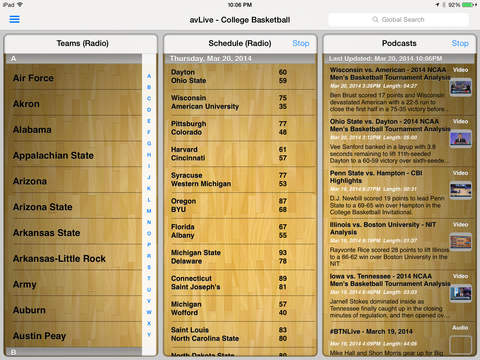 Pocket News - College Basketball iPad Screenshot 1
