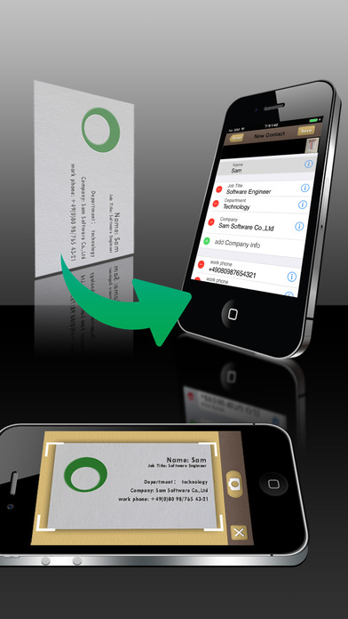 SamCard-business card reader & business card scanner & visiting card screenshot