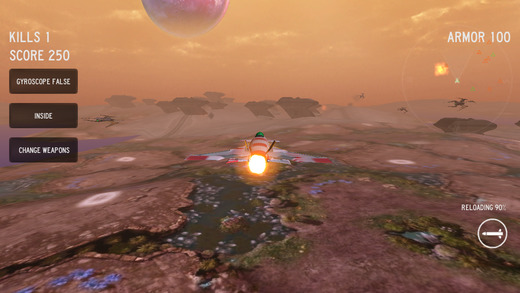 Mars Sky Attack 3D - skyforce 2015