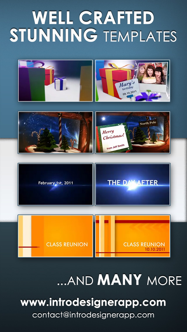 imovie intros templates - download intro designer lite create intros for imovie