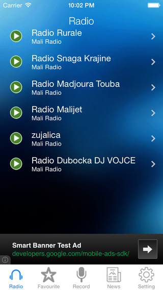 Mali Radio News Music Recorder