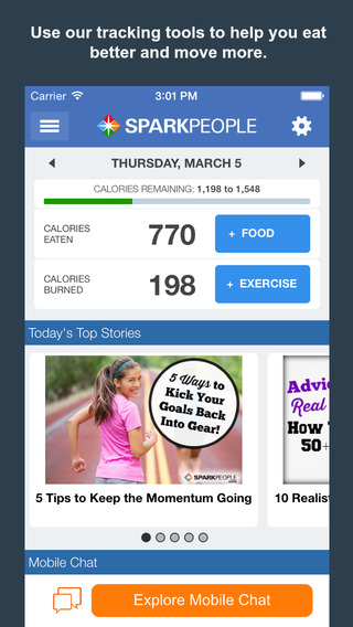 Calorie Counter Weight Loss by SparkPeople