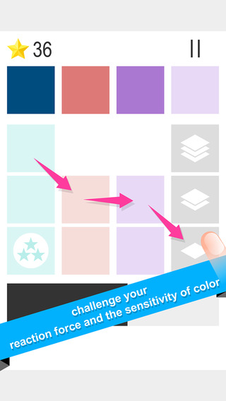 Laminated Color - Shades squares eliminate of Simple puzzle game