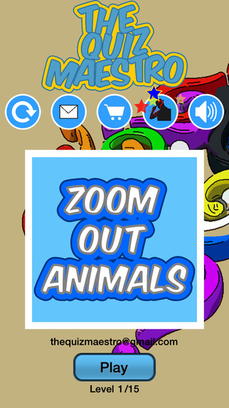 Zoom Out Animals Quiz Maestro - Close Up Pet Zoo Farm Word Trivia