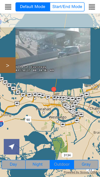 Louisiana New Orleans Offline Map with Real Time Traffic Cameras