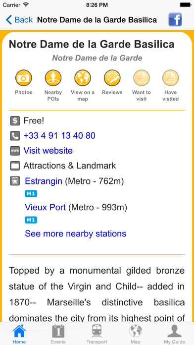 Marseille Travel Guide Offline iPhone Screenshot 5