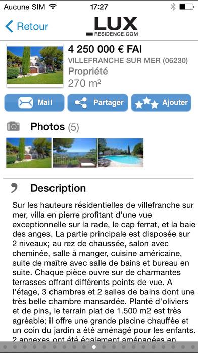 Lux-Residence - Prestige & Luxury real-estate iPhone Screenshot 3
