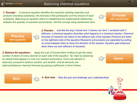 Gamify - Balancing Chemical equations