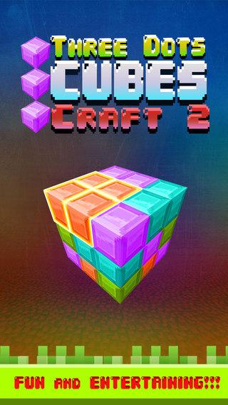 Three Dots Cubes Craft 2: Gem Stones Dots World Edition