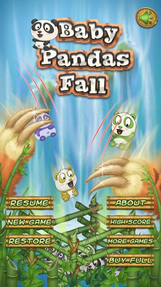 Baby Pandas Fall Free - Addictive Animals Falling Game