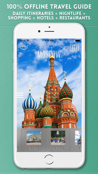 Moscow Travel Guide with Offline City Street and Metro Maps