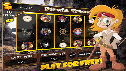 AAA Pirates gold treasure slot machines 777 –Lucky journey to the big win
