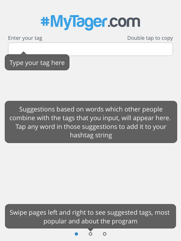 MyTager - Pick hashtags for Instagram and Twitter screenshot