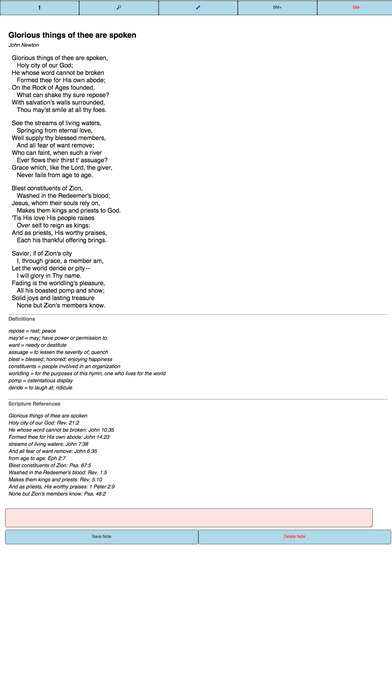 Husting Pocket Hymnal iPhone Screenshot 2